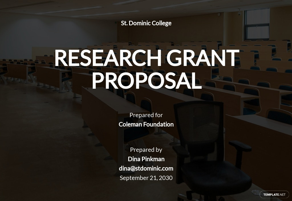 Research Grant Proposal Template