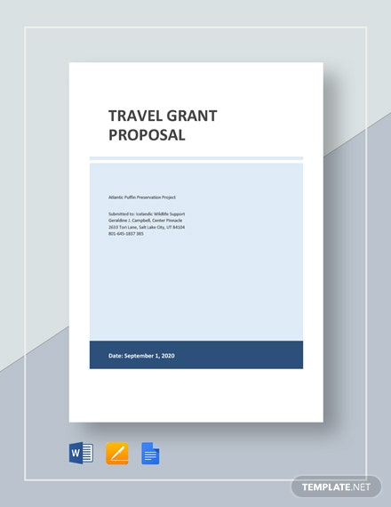 Travel Grant Proposal Template