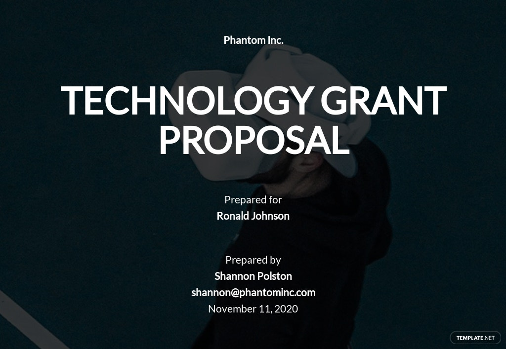 Technology Grant Proposal Template