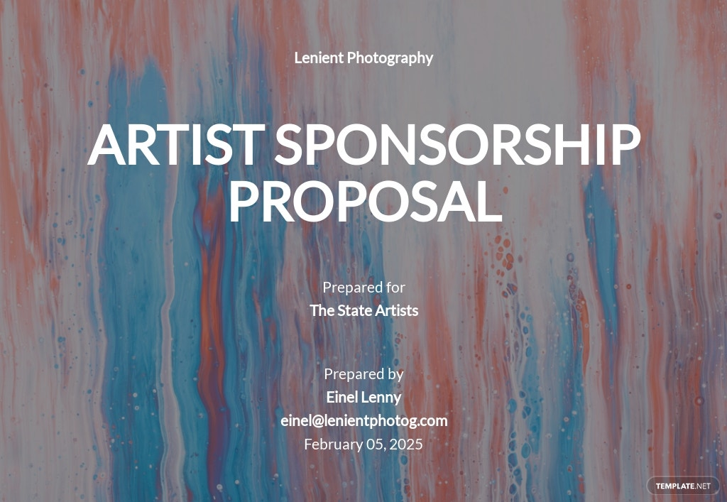 Artist Sponsorship Proposal Template [Free PDF] - Google Docs, Word, Apple Pages