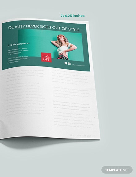 Fashion Magazine Ads Layout Example