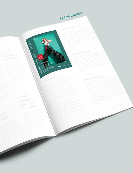 Fashion Magazine Ads Layout Format