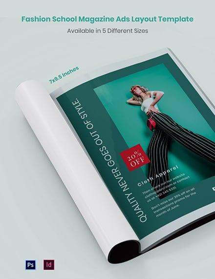 Fashion Magazine Ads Layout
