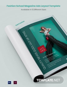 Free Fashion Magazine Ads Layout Template