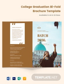 College Graduation Bi-Fold Brochure Template