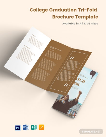 College Graduation Tri-Fold Brochure Template
