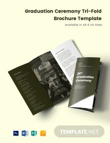 Elegant Graduation Ceremony Tri-Fold Brochure Template