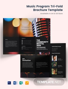 Music Program Tri-Fold Brochure Template