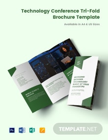 Technology Conference Tri-Fold Brochure Template