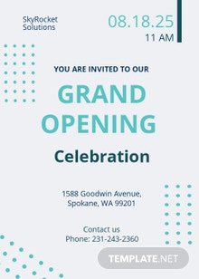 IT company Opening Invitation Template
