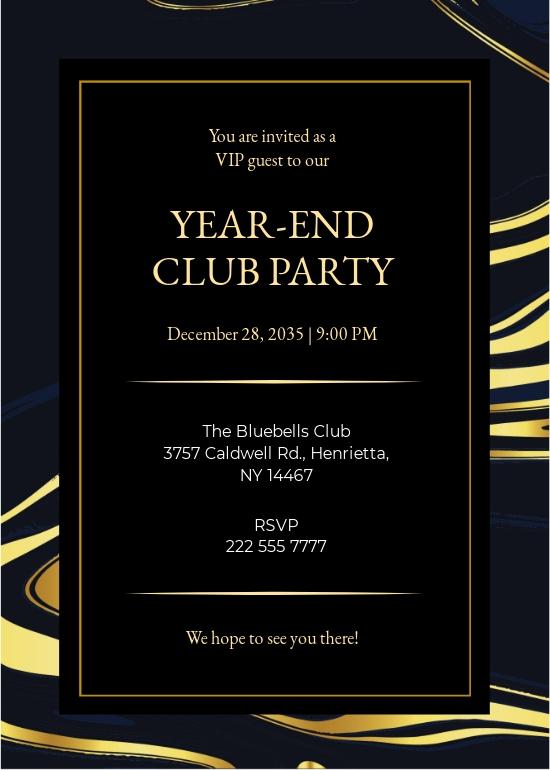 Elegant Loyalty/VIP Invitation Card Template