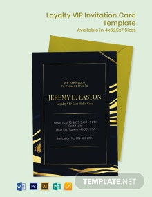Elegant Loyalty/VIP Invitation Card Template