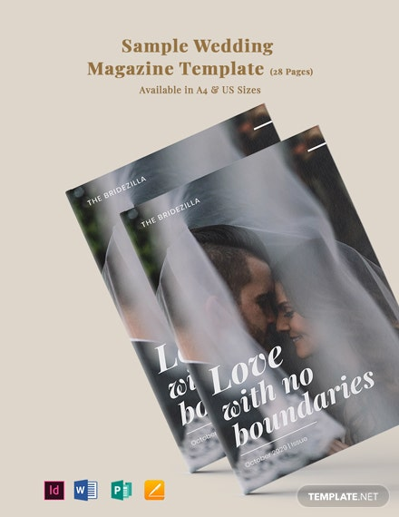 Free Sample Wedding Magazine Template
