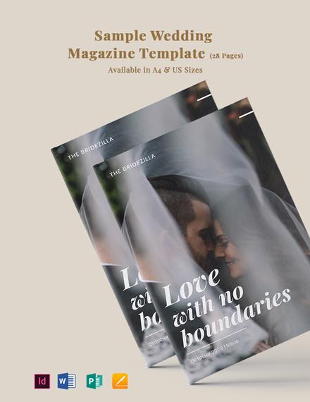 Free Sample Wedding Magazine Template