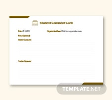 comment card template microsoft