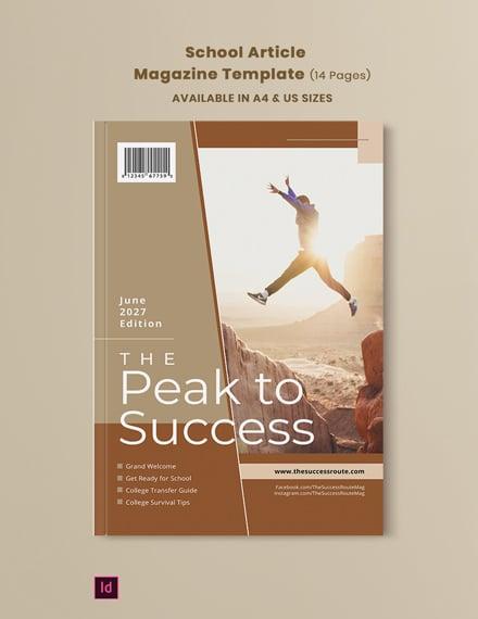 school article magazine