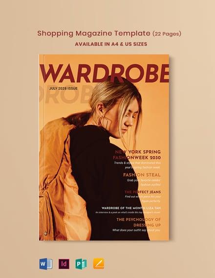 Shopping Magazine Template
