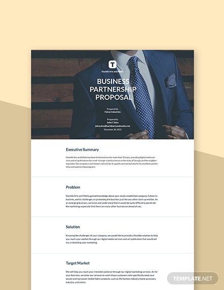 Business Sponsorship Proposal Template
