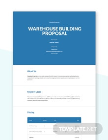 Tenant Lease Proposal Template