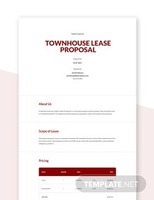 Free Sample Lease Proposal Template