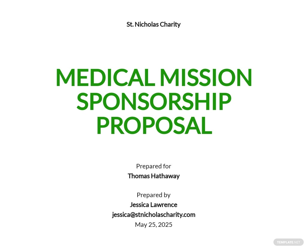Charity Sponsorship Proposal Template [Free PDF] - Google Docs, Word, Apple Pages
