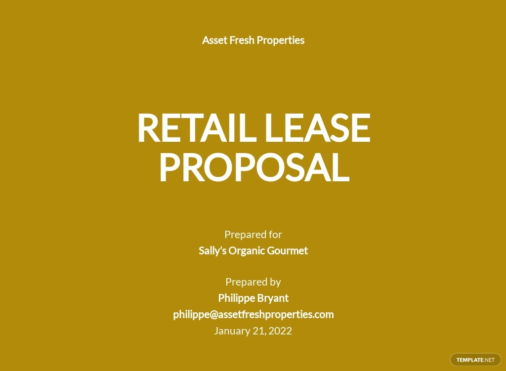 Retail Lease Proposal Template