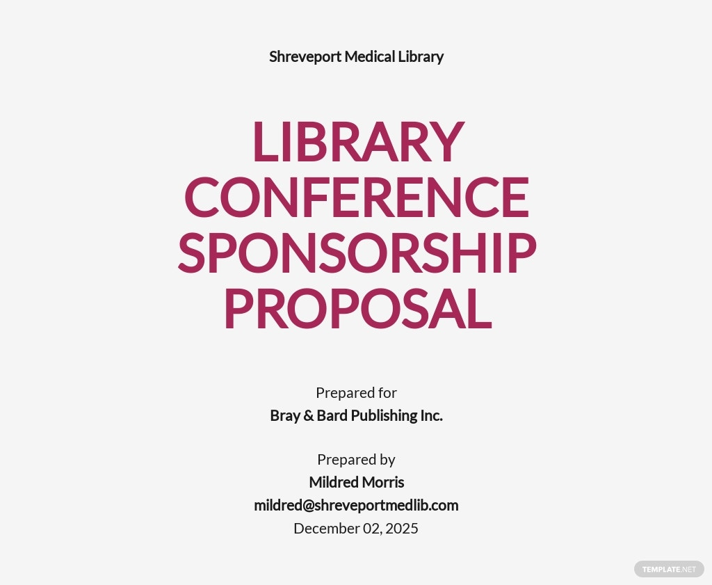 Conference Sponsorship Proposal Template
