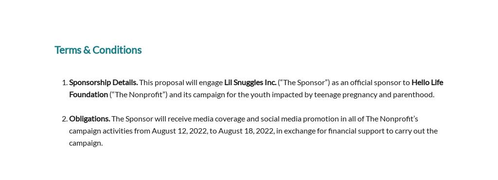 Nonprofit Sponsorship Proposal Template [Free PDF] - Google Docs, Word, Apple Pages
