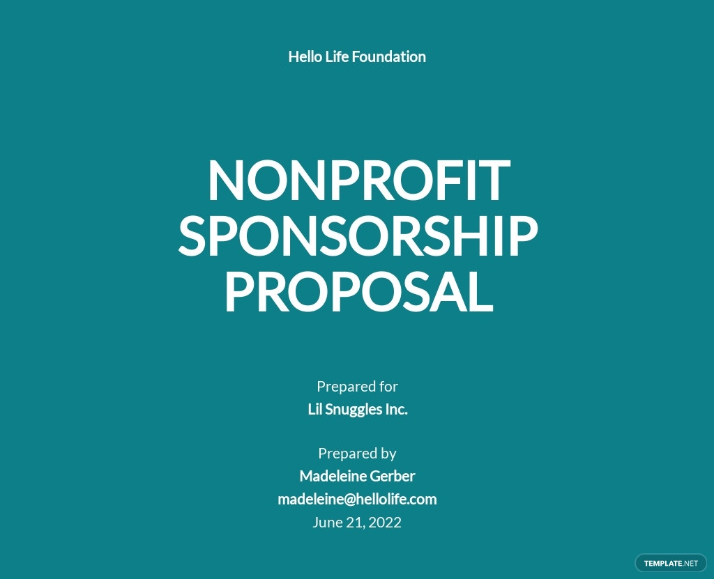 Nonprofit Sponsorship Proposal Template