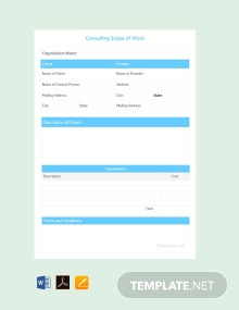 Free Consulting Scope of Work Template