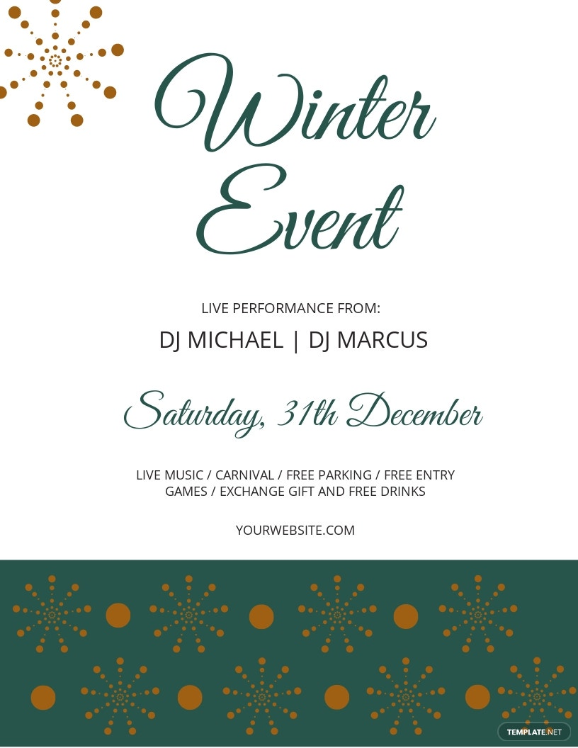 Winter Events Flyer Template