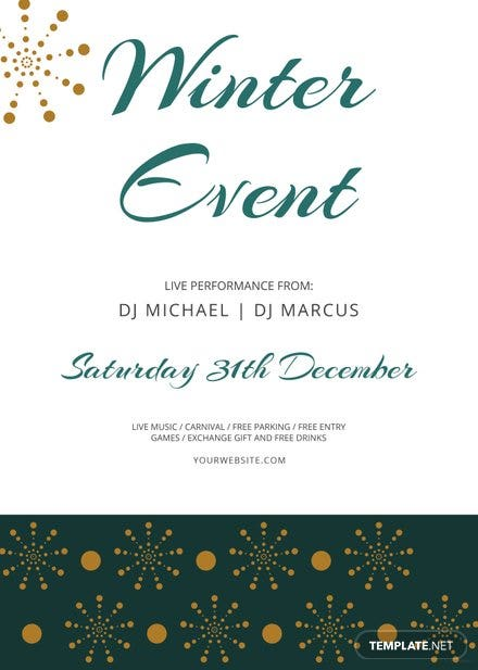 Free Winter Events Flyer Template | Free Templates