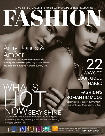 Free Women Fashion Magazine Cover Template