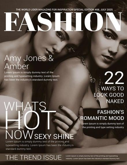 Women Fashion Magazine Cover Template