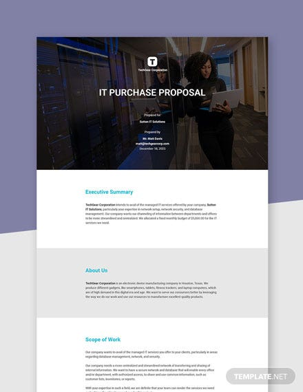 IT Purchase Proposal Template