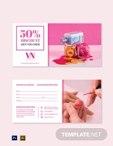 Beauty Pedicure Voucher Template