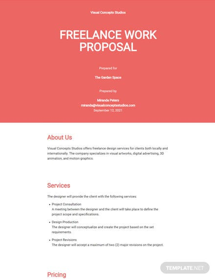Freelance Work Proposal Template