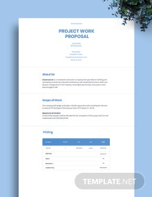 Project Work Proposal Template