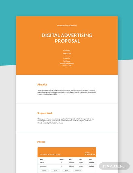Editable Digital Advertising Proposal