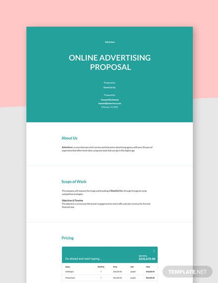 Online Advertising Proposal Template