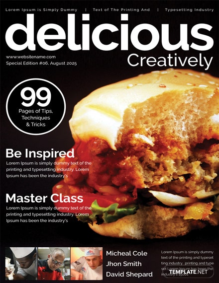 Food Magazine Cover Template