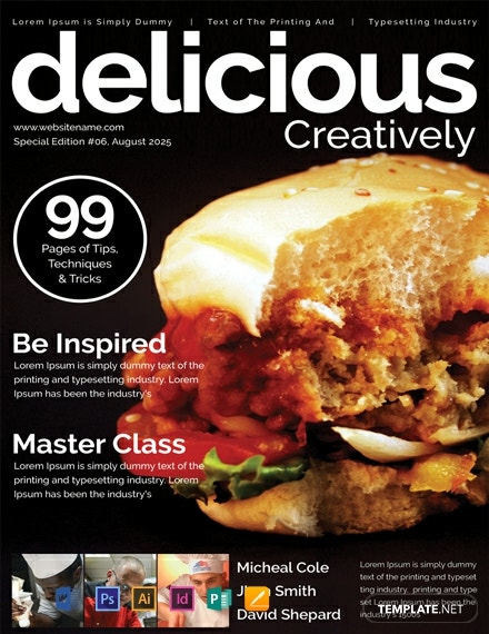 Free Food Magazine Cover Template