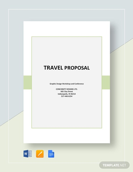 Free Sample Travel Proposal Template
