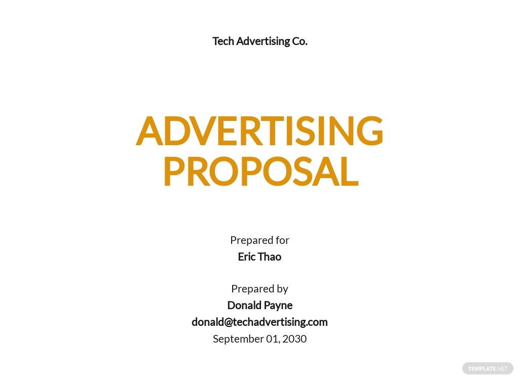 Simple Advertising Proposal Template