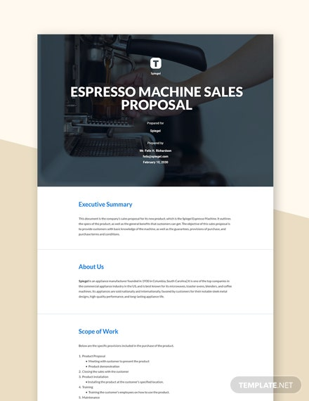Free Basic Sales Proposal Template