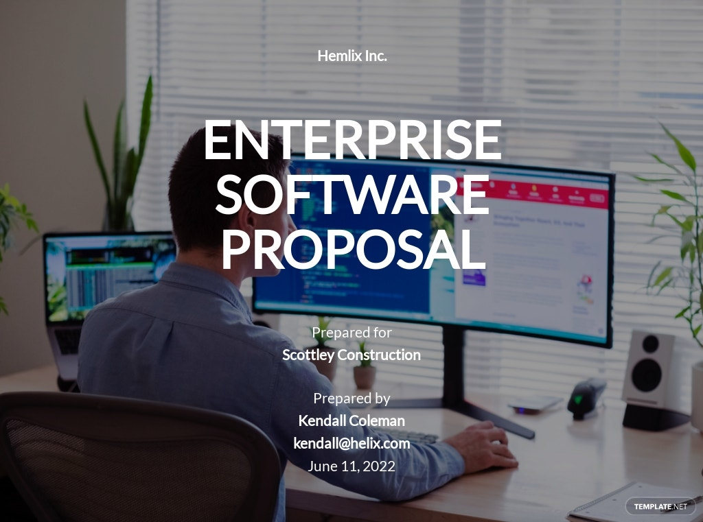 Enterprise Software Proposal Template