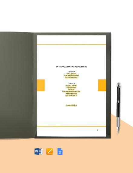Enterprise Software Proposal Template