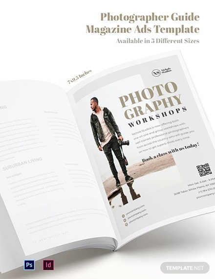 Free Photographer Guide Magazine Ads Template