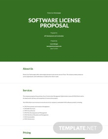 Software License Proposal Template
