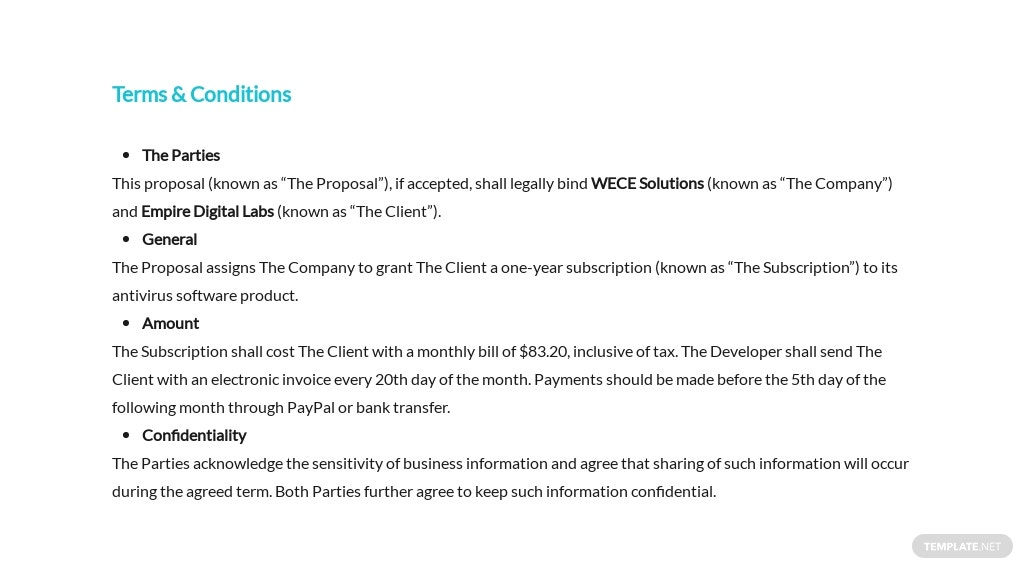Software Company Proposal Template [Free PDF] - Google Docs, Word, Apple Pages